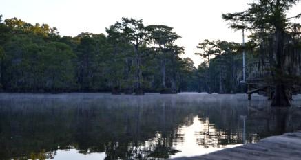 Caddo Lake smoke on the water