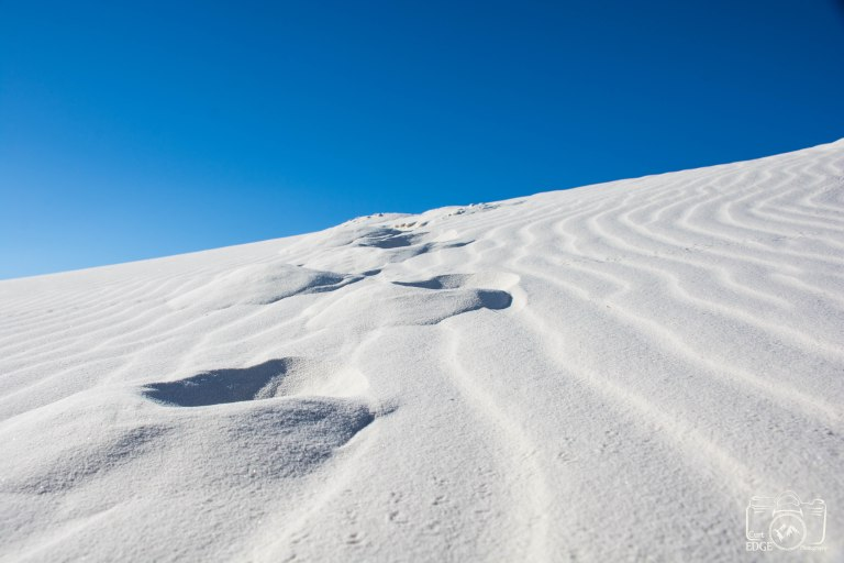 White Sands foot prints